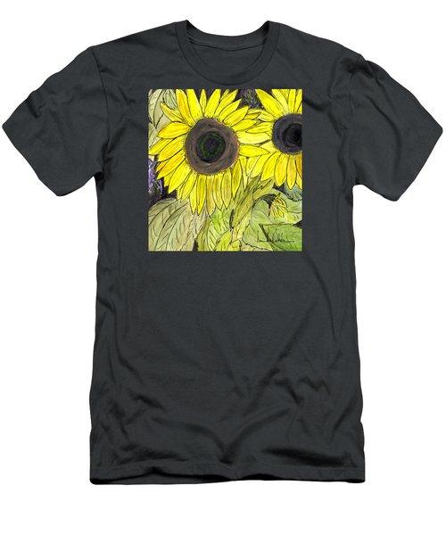 Sunflowers Men's T-Shirt (Slim Fit) by Lou Belcher