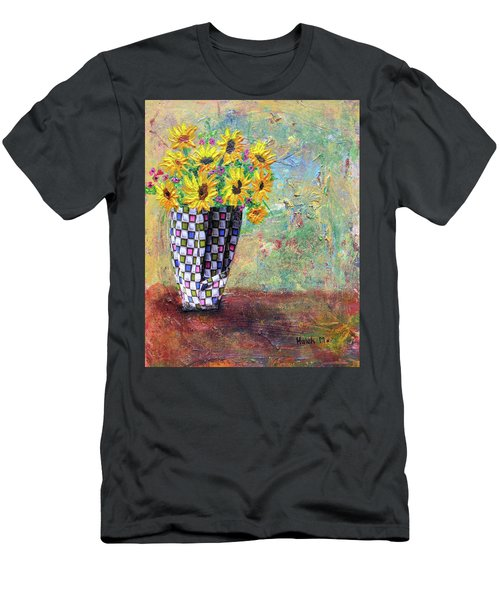 Sunflowers Warmth Men's T-Shirt (Slim Fit) by Haleh Mahbod