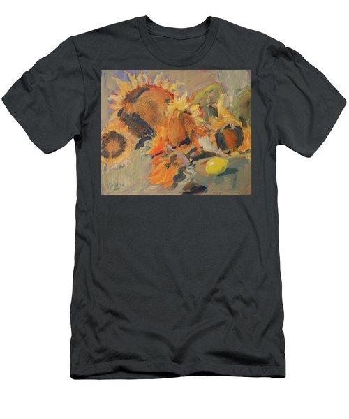 Sunflowers With Lemon Men's T-Shirt (Athletic Fit)