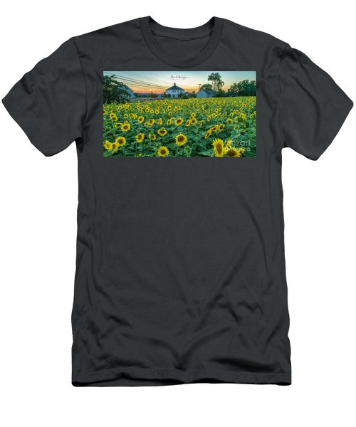 Sunflowers For Wishes  Men's T-Shirt (Athletic Fit)