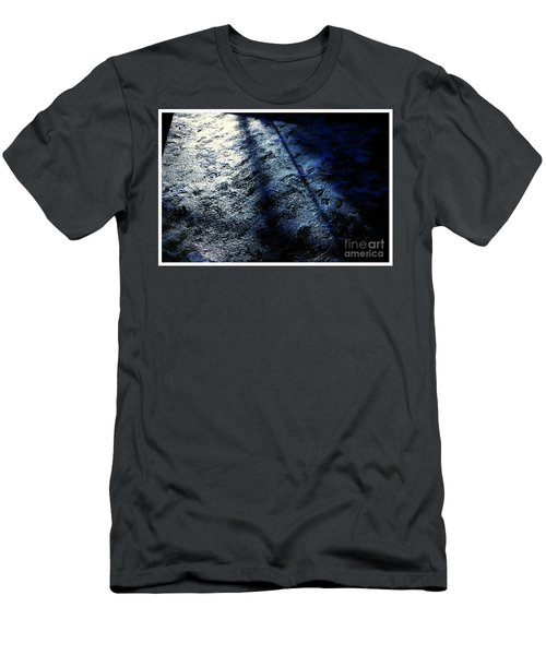 Sunlight Shadows On Ice - Abstract Men's T-Shirt (Athletic Fit)