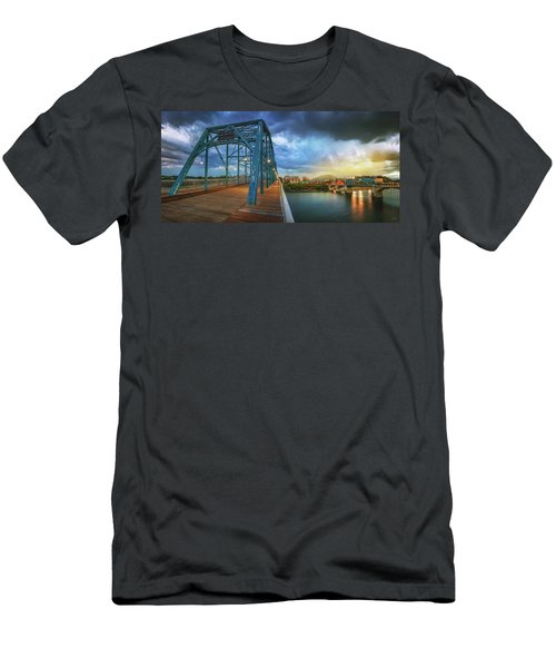 Sunlight Thru Rain Over Chattanooga Men's T-Shirt (Athletic Fit)
