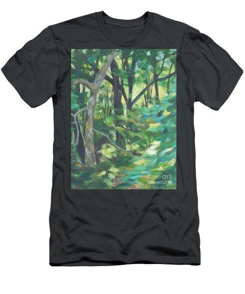Sunlit Backyard Men's T-Shirt (Athletic Fit)