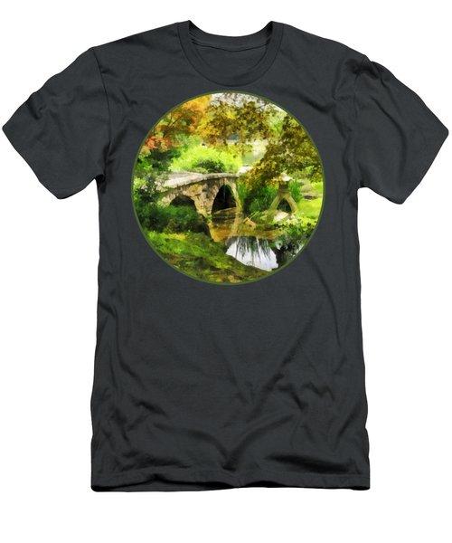 Sunlit Bridge In Park Men's T-Shirt (Athletic Fit)