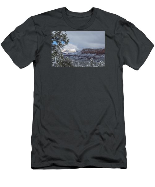 Sunlit Snowy Cliff Men's T-Shirt (Athletic Fit)