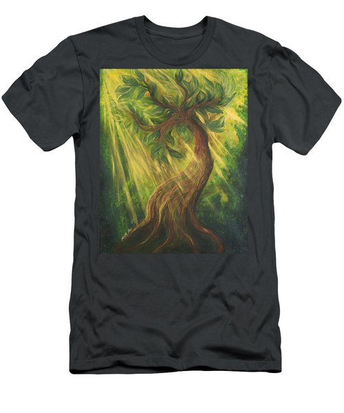 Sunlit Tree Men's T-Shirt (Athletic Fit)