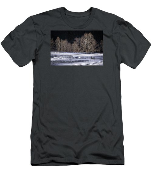 Men's T-Shirt (Athletic Fit) featuring the photograph Sunlit Trees by Tom Singleton