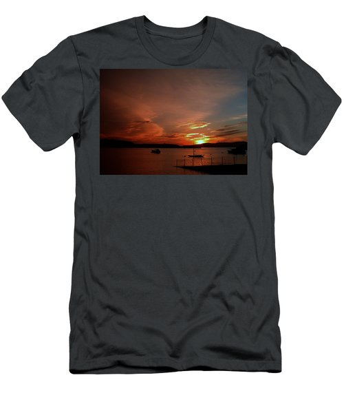 Sunraise Over Lake Men's T-Shirt (Athletic Fit)