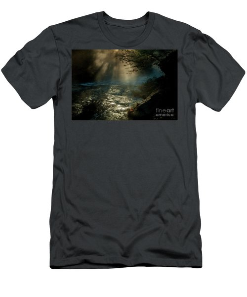 Sunrays At Fork River Men's T-Shirt (Slim Fit) by Iris Greenwell