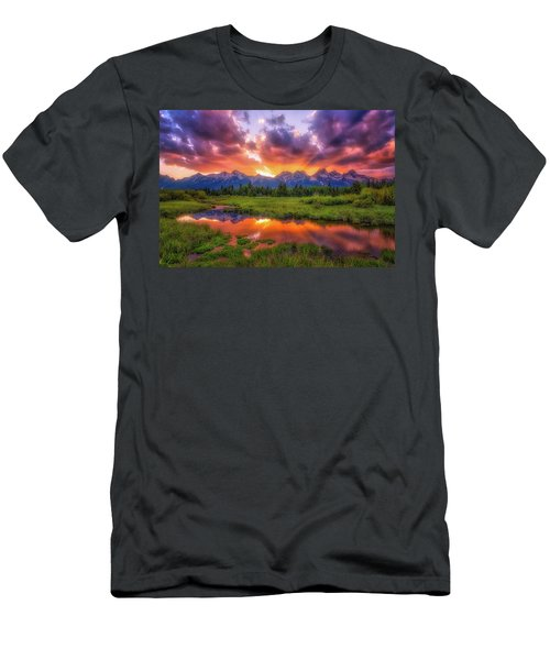 Sunrays Over The Tetons Men's T-Shirt (Athletic Fit)