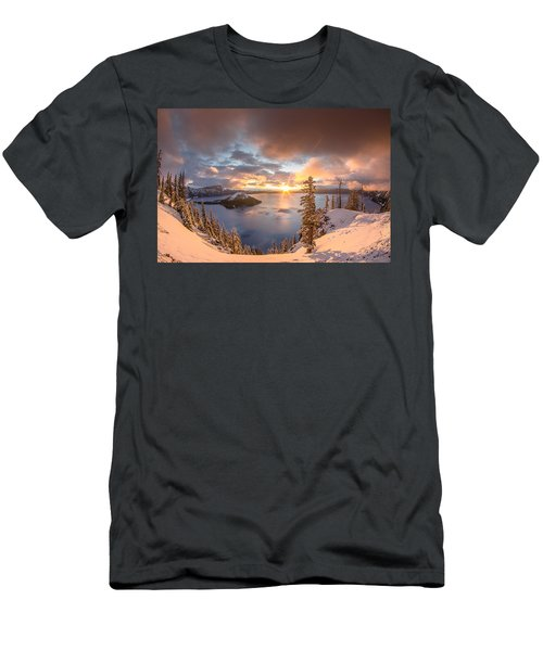 Sunrise After Summer Snowfall Men's T-Shirt (Athletic Fit)