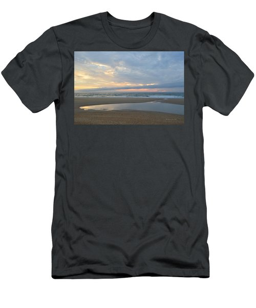Men's T-Shirt (Athletic Fit) featuring the photograph Sunrise At Loggerhead by Barbara Ann Bell
