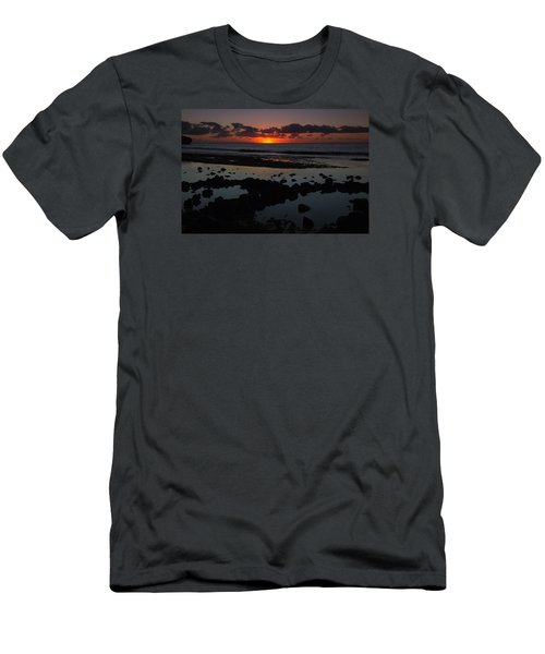 Men's T-Shirt (Slim Fit) featuring the photograph Sunrise At Shipwreck Beach by Roger Mullenhour