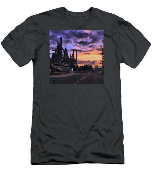 Men's T-Shirt (Slim Fit) featuring the photograph Sunrise At Steelstacks by DJ Florek