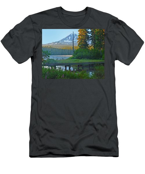 Men's T-Shirt (Slim Fit) featuring the photograph Sunrise At Takhlakh Lake Under Mt Adams by Jack Moskovita
