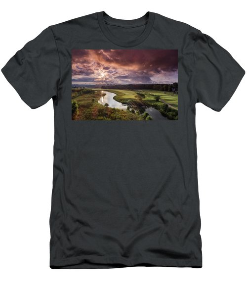 Sunrise At The Course Men's T-Shirt (Athletic Fit)