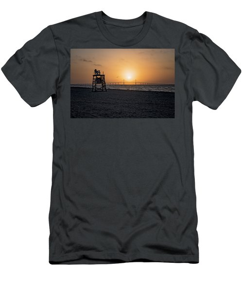 Sunrise At The Skyway Bridge Men's T-Shirt (Athletic Fit)