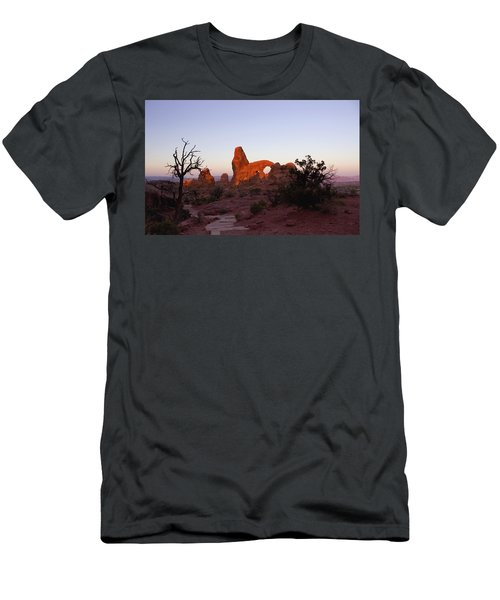 Sunrise At Tower Arch Men's T-Shirt (Athletic Fit)