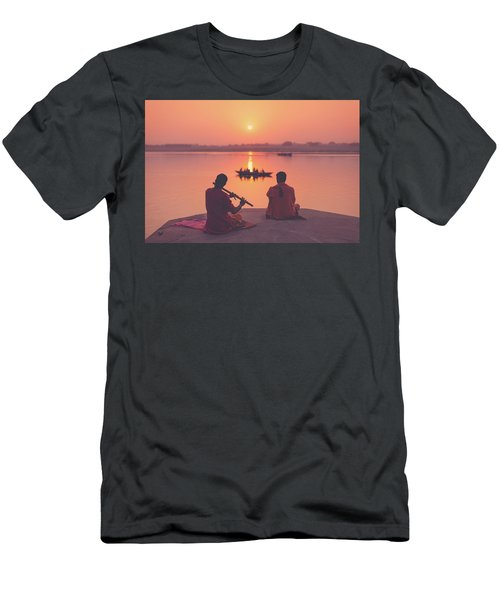 Sunrise By The Ganges Men's T-Shirt (Athletic Fit)