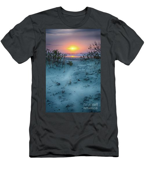 Sunrise Hike On The Outer Banks Men's T-Shirt (Slim Fit) by Dan Carmichael