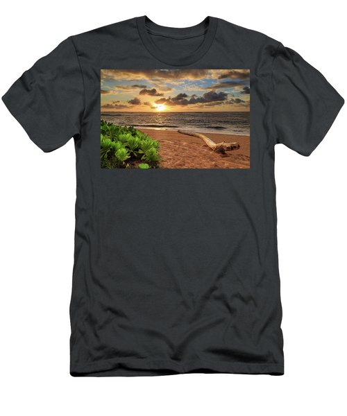 Men's T-Shirt (Athletic Fit) featuring the photograph Sunrise In Kapaa by James Eddy