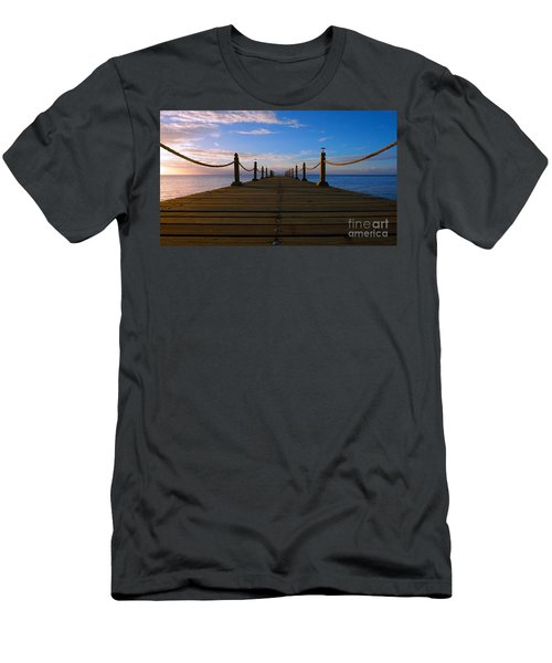 Sunrise Morning Bliss Pier 140a Men's T-Shirt (Athletic Fit)