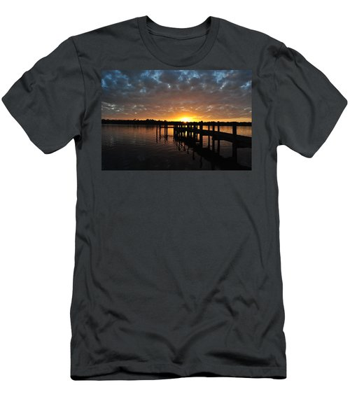 Men's T-Shirt (Slim Fit) featuring the photograph Sunrise On The Bayou by Michele Kaiser