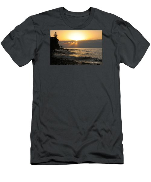 Men's T-Shirt (Slim Fit) featuring the photograph Sunrise On The Point by Sandra Updyke