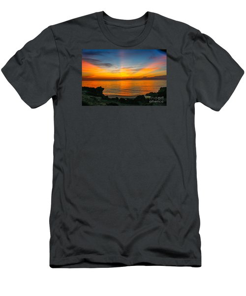 Sunrise On The Rocks Men's T-Shirt (Slim Fit) by Tom Claud