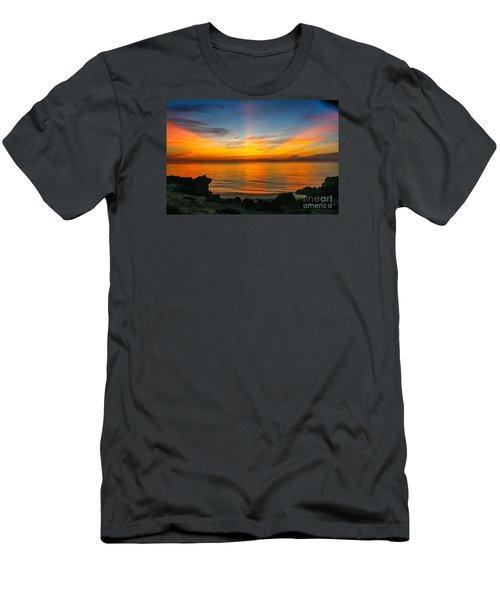 Sunrise On The Rocks Men's T-Shirt (Athletic Fit)