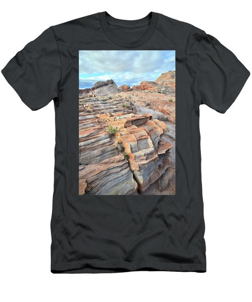 Sunrise On Valley Of Fire Men's T-Shirt (Slim Fit) by Ray Mathis