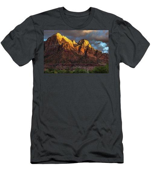 Sunrise On Zion National Park Men's T-Shirt (Athletic Fit)
