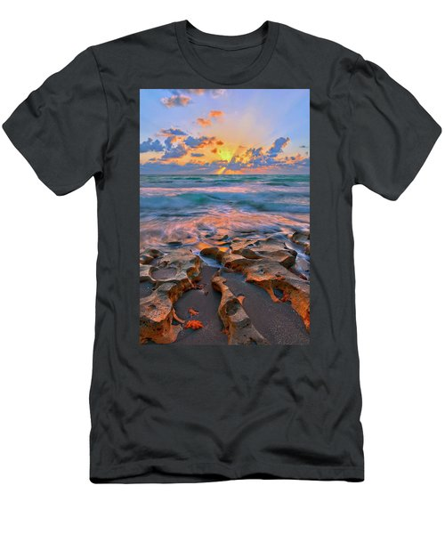 Sunrise Over Carlin Park In Jupiter Florida Men's T-Shirt (Athletic Fit)