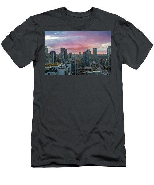 Sunrise Over Downtown Vancouver Bc Men's T-Shirt (Athletic Fit)