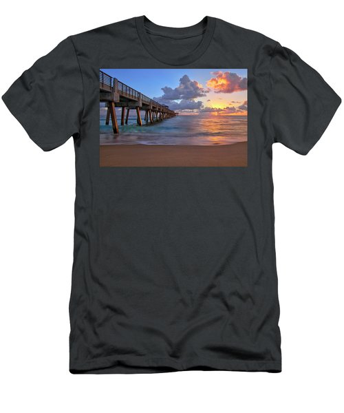 Sunrise Over Juno Beach Pier In Florida Men's T-Shirt (Athletic Fit)