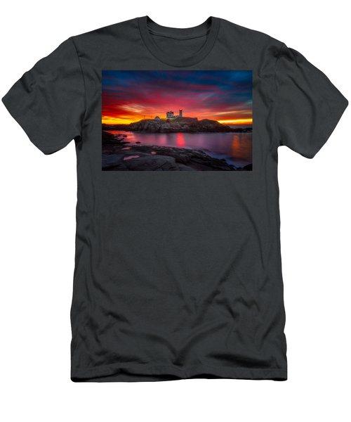 Sunrise Over Nubble Light Men's T-Shirt (Athletic Fit)