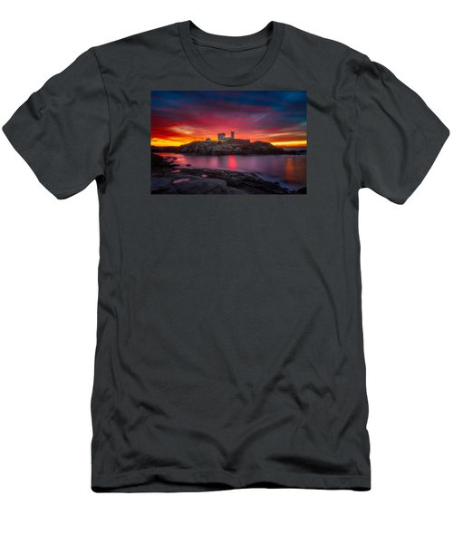 Sunrise Over Nubble Light Men's T-Shirt (Athletic Fit)