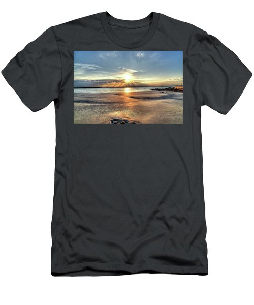 Sunrise Over Red Rock Park Lynn Ma Kings Beach Men's T-Shirt (Athletic Fit)