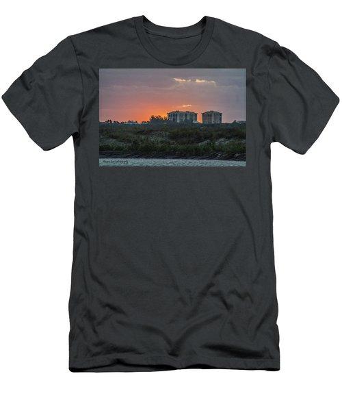 Sunrise Over The Intracoastal Men's T-Shirt (Slim Fit) by Nance Larson