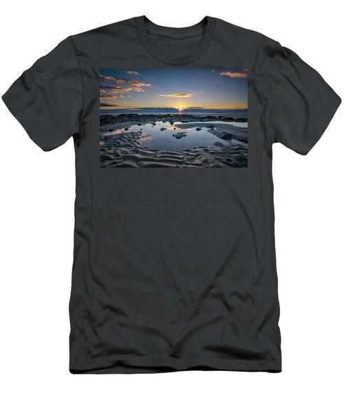 Men's T-Shirt (Slim Fit) featuring the photograph Sunrise Over Wells Beach by Rick Berk