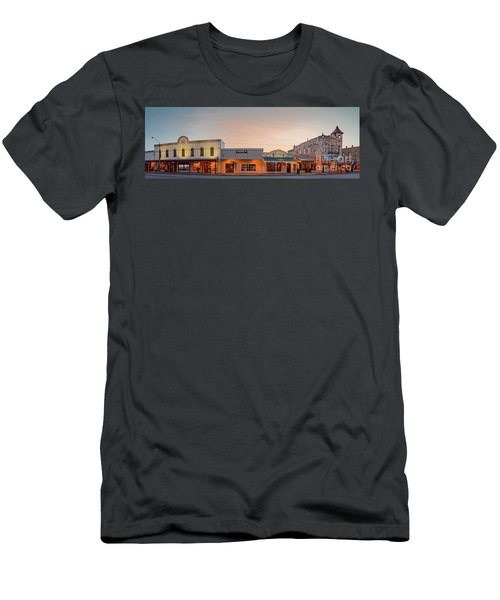Sunrise Panorama Of Downtown Fredericksburg Historic District - Gillespie County Texas Hill Country Men's T-Shirt (Athletic Fit)