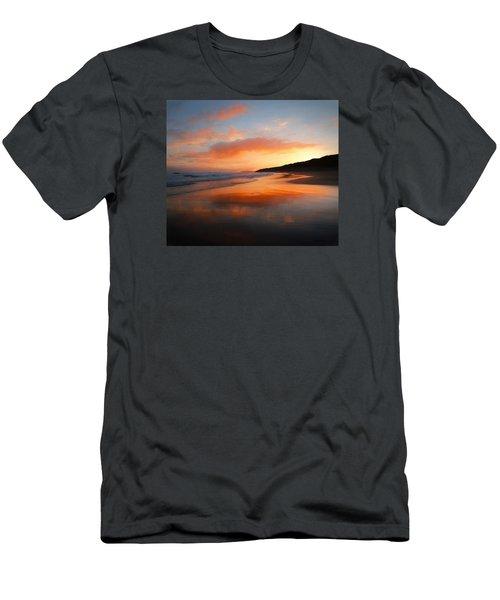 Sunrise Reflection Men's T-Shirt (Slim Fit) by Roy McPeak