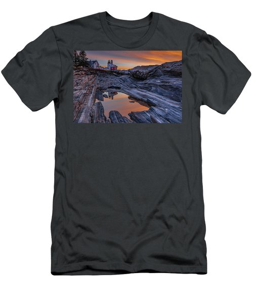 Sunrise Reflections At Pemaquid Point Men's T-Shirt (Athletic Fit)