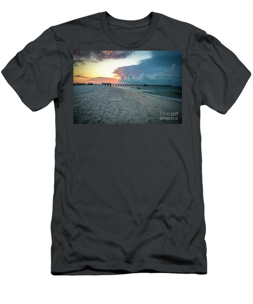 Sunrise Seascape Gulf Shores Al Pier 064a Men's T-Shirt (Athletic Fit)