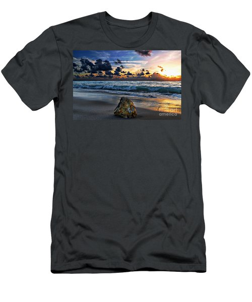 Sunrise Seascape Wisdom Beach Florida C3 Men's T-Shirt (Athletic Fit)
