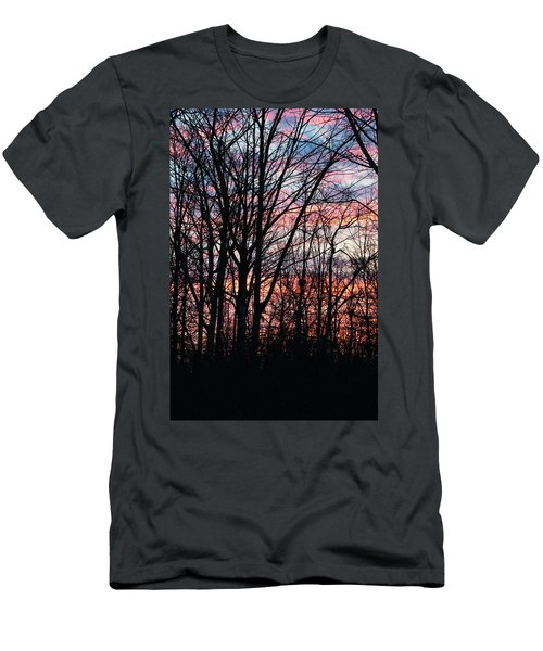 Sunrise Silhouette And Light Men's T-Shirt (Athletic Fit)