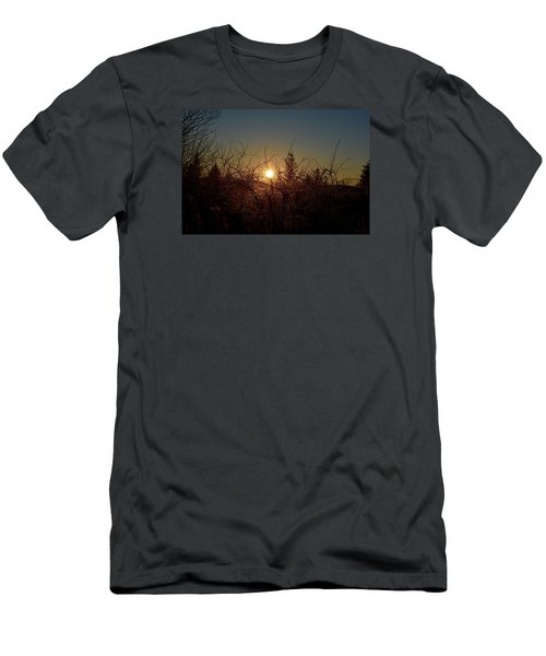 Men's T-Shirt (Slim Fit) featuring the photograph Sunrise Thru The Brush by Dacia Doroff