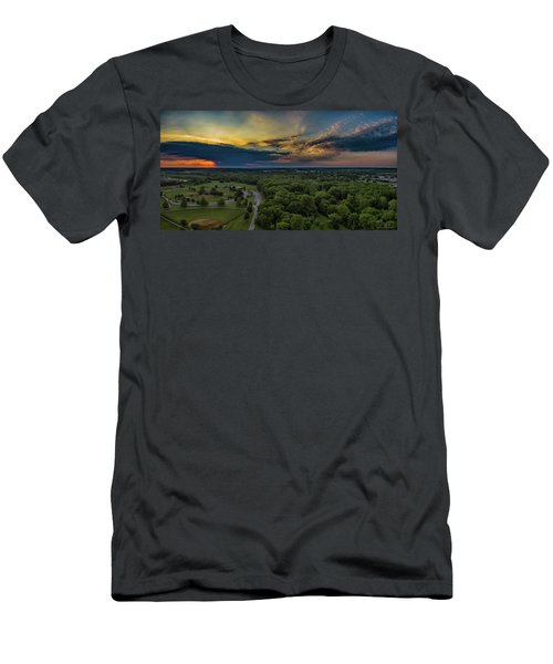 Sunrise Thru The Clouds Men's T-Shirt (Athletic Fit)