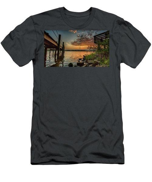 Sunrise Under The Dock Men's T-Shirt (Athletic Fit)