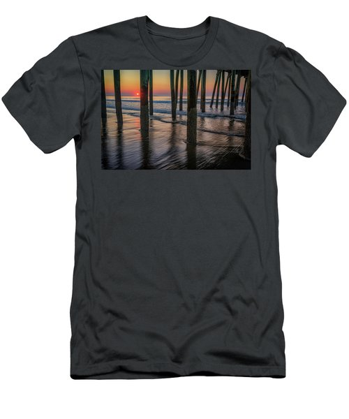 Men's T-Shirt (Athletic Fit) featuring the photograph Sunrise Under The Pier by Rick Berk